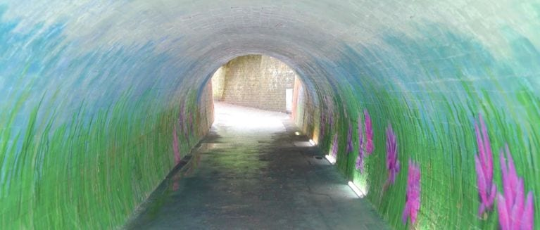 Clean beautiful vibrant tunnel