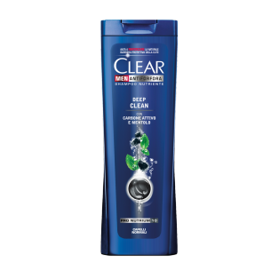 Front of shampoo pack Clear Deep Clean 250ml