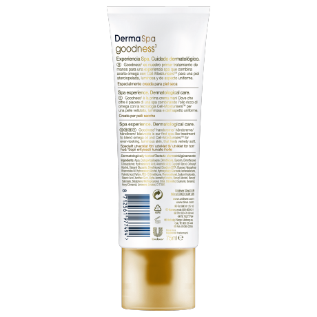 Dove DermaSpa Goodness3 Hand Cream BOP 75ml 8712561977494 DE
