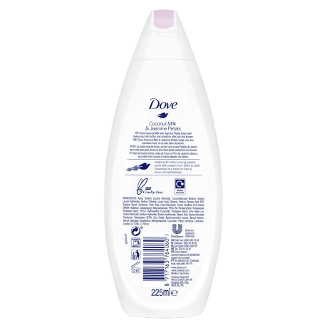 PNG - Dove BW 225ml Coconut