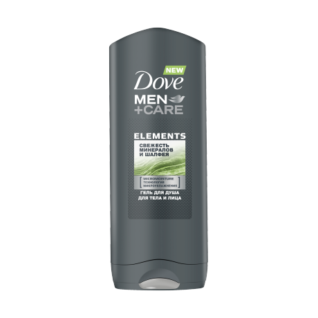 Гель для душа Dove Men+Care Свежесть Минералов и Шалфея