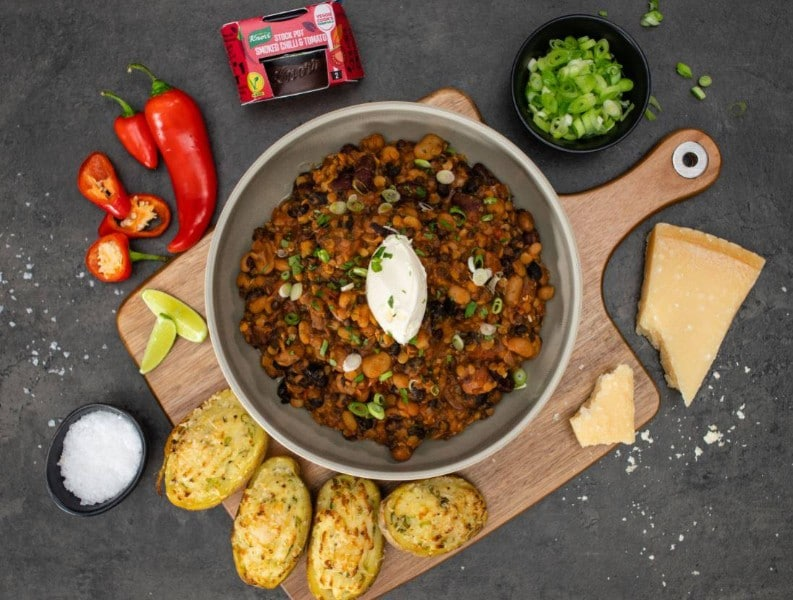 Mixed Bean and Lentil Chilli