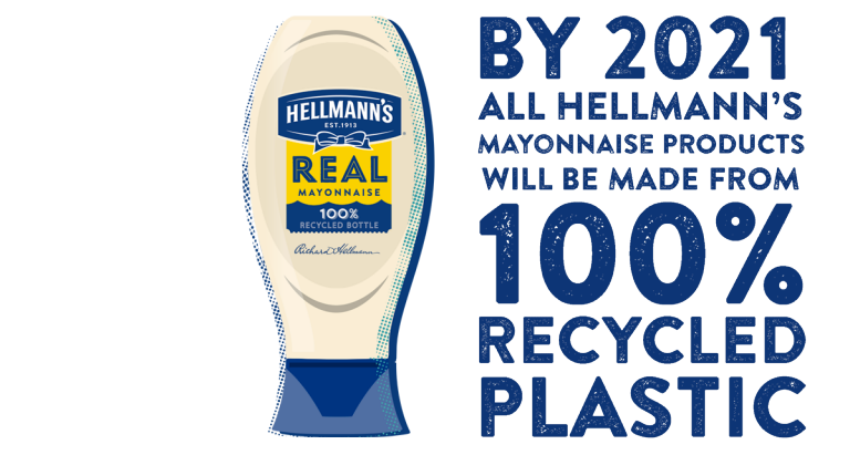 Recycled plastic hellmanns
