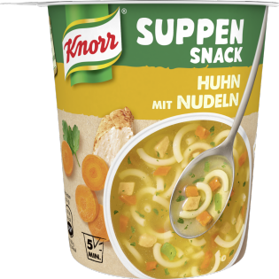 KNORR Suppen Snack Huhn mit Nudeln