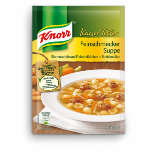 KNORR Kaiser Teller Feinschmecker Suppe