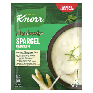 KNORR Feinschmecker Spargelcreme Suppe
