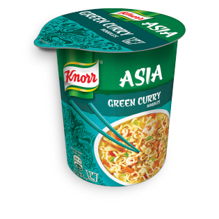 KNORR Asia Snack Becher Green Curry Noodles