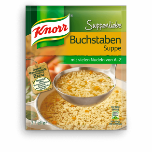 Knorr Suppenliebe Buchstabensuppe | Knorr