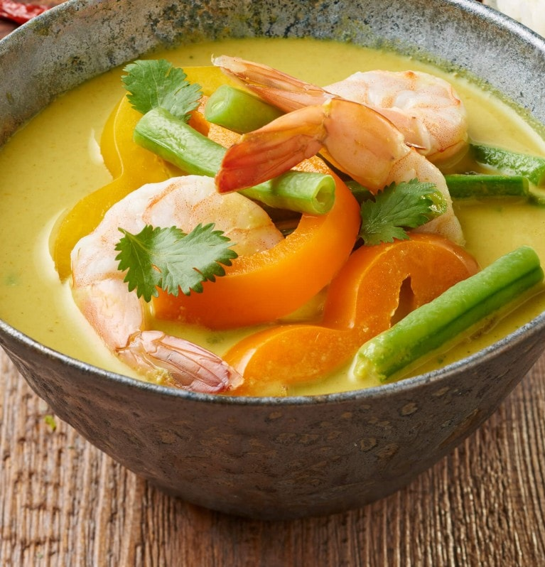 Thai Green Curry mit Garnelen