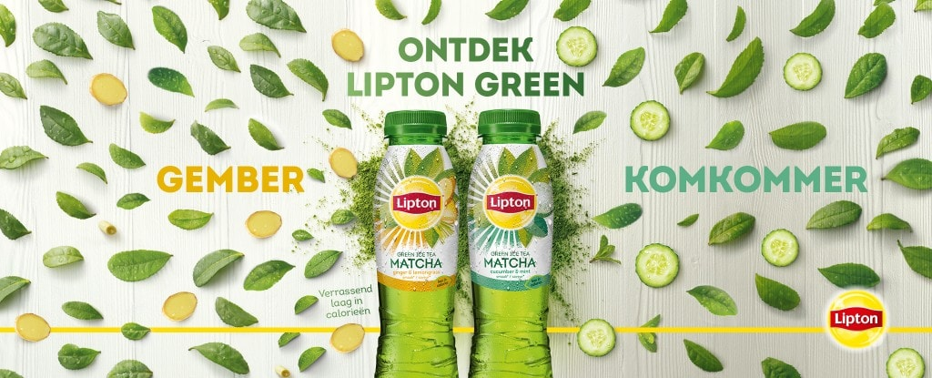 Lipton Ice Tea Green Gember Matcha of Komkommer Matcha