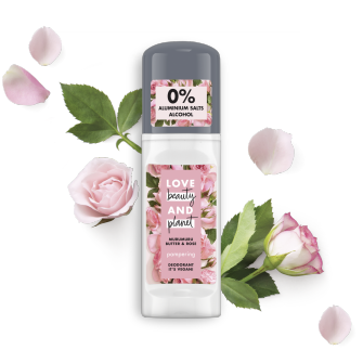 Vorderseite des Love Beauty Planet Pampering Deodorant Roll-On 50 ml