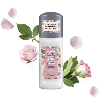 Devant du déodorant roll-on Pampering de Love Beauty Planet 50 ml