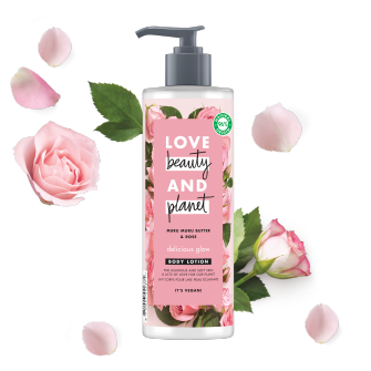 lait corps éclat délicat Love Beauty Planet 400ml