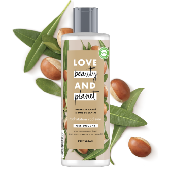 gel douche hydratation radieuse Love Beauty and Planet 400ml