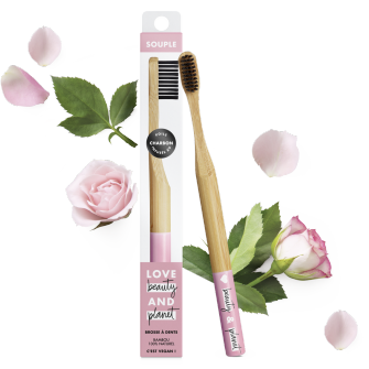 brosse à dents en bambou souple Love Beauty and Planet