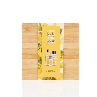 LBP coconut oil & ylang ylang luxe bamboe geschenkset front of pack