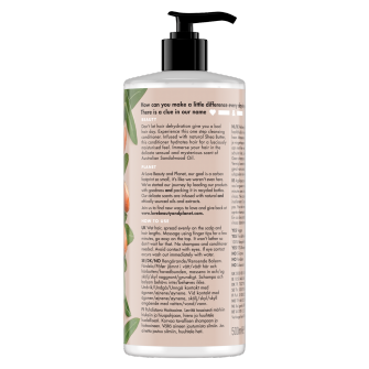 Back of cleansing conditioner pack Love Beauty Planet Shea Butter & Sandalwood Cleansing Conditioner Happy & Hydrated 500ml