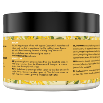 Back of hair masque pack Love Beauty Planet Coconut Oil & Ylang Ylang Hair Masque Hope & Repair 100ml