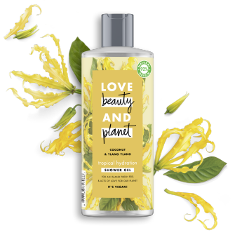 Front of gel de ducha pack Love Beauty and Planet gel de ducha aceite de coco & ylang ylang Tropical Hydration 500 ml