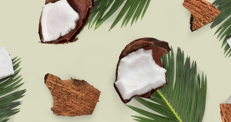 Coconut pieces