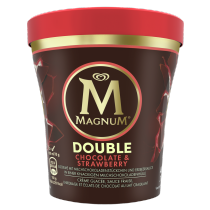PNG - Magnum Ice cream cup DOUBLE CHOCOLATE STRAWBERRY 440 ML