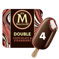 Magnum Double Chocolate & Strawberry 4x