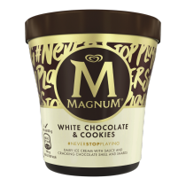 PNG - Magnum Pint White Chocolate & Cookies 440ml