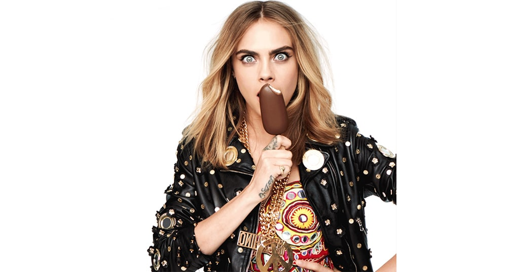 Cara Delevigne Eating Magnumg Ice