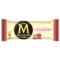 PNG - 3D MAGNUM big strawberry white