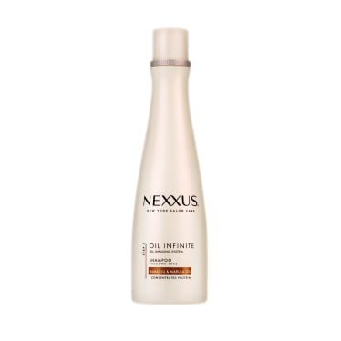 Front of Shampoo pack Nexxus Oil Infinite Shampoo For Frizzy Hair 250ml