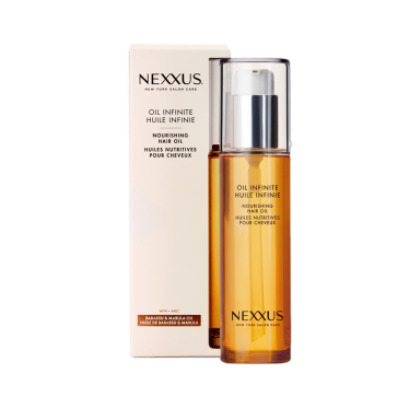 Front of hair oil pack Nexxus Oil Infinite Hair Oil Treatment for Frizzy Hair 100ml