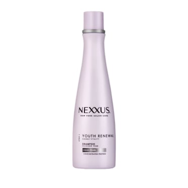 Front of shampoo pack Nexxus Youth Renewal Shampoo for Fine Hair 250ml