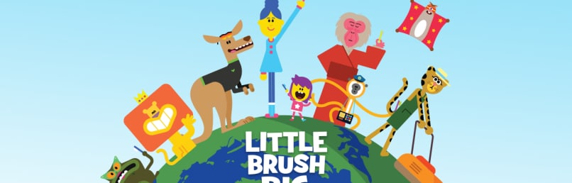 Make tooth brushing fun with little brush big brush