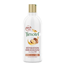 Avant de l'emballage apres-shampooing Timotei Miraculous Repair Conditioner 300ml