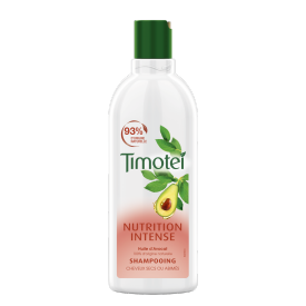 Avant de l'emballage du shampooing Nutrition Intense Timotei 300 ml