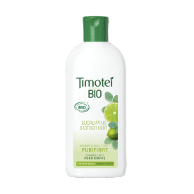 Front of shampoo pack Timotei 2in1 BIO Champú Purificante 250ml