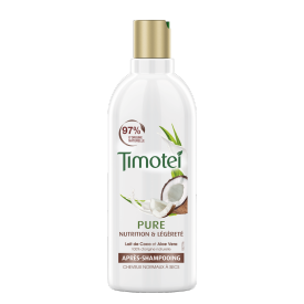 Front of pack Timotei Pure Nourished and Light Odżywka do włosów normalnych i suchych 300ml