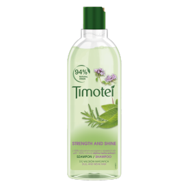 Front of pack Timotei Strength and Shine Szampon do włosów 400ml