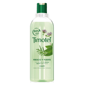 Front of shampoo pack Timotei Fresco & Fuerte Champú 400ml