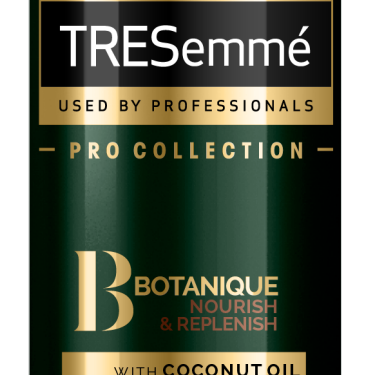 A 125ml bottle of TRESemmé Botanique Nourish & Replenish Hydrating Mist front of pack image