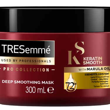 A 300ml tub of TRESemmé Keratin Smooth Mask front of pack image