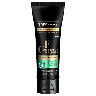 A 125ml bottle of TRESemmé Thickening Balm front of pack image
