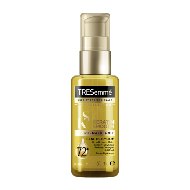 Front of TRESemmé Keratin Smooth Shine Oil 50ml