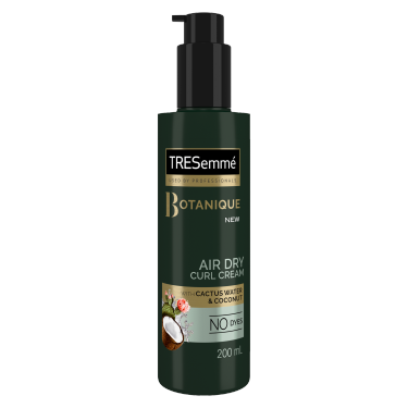 A 200ml bottle of TRESemme Botanique Air Dry curl cream Front of Pack