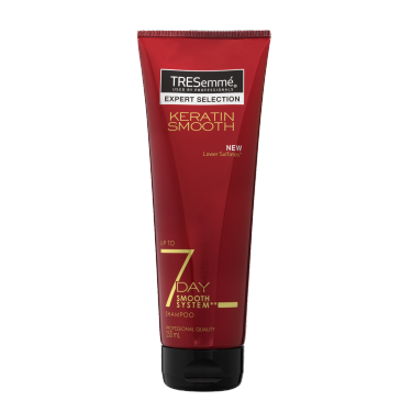 Front of TRESemmé 7 Day Keratin Smooth Schampo 250ml