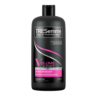 Front of TRESemme Volume & Body Schampo 900ml